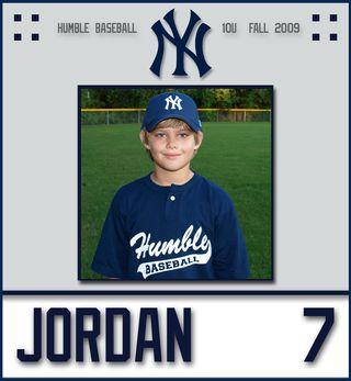 2009 10U Yankees - DS - Jordan 2